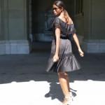 The Off the shoulder dress slider
